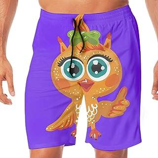 サーフパンツ 水着 メンズ ビーチ用 海パン メンズ水着 海パン ショートパンツ ハーフパンツ 大きいサイズ カジュアル Cute Owl 水陸両用