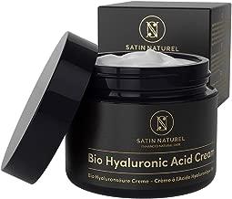 GANADOR 2019* Crema Facial de Acido Hialuronico Puro ORGÁNICA 50 ml - Crema Antiarrugas para Mujer con Aloe Vera y Vitamina E - Usar con un Serum Facial - Cremas Faciales para Contorno de Ojos