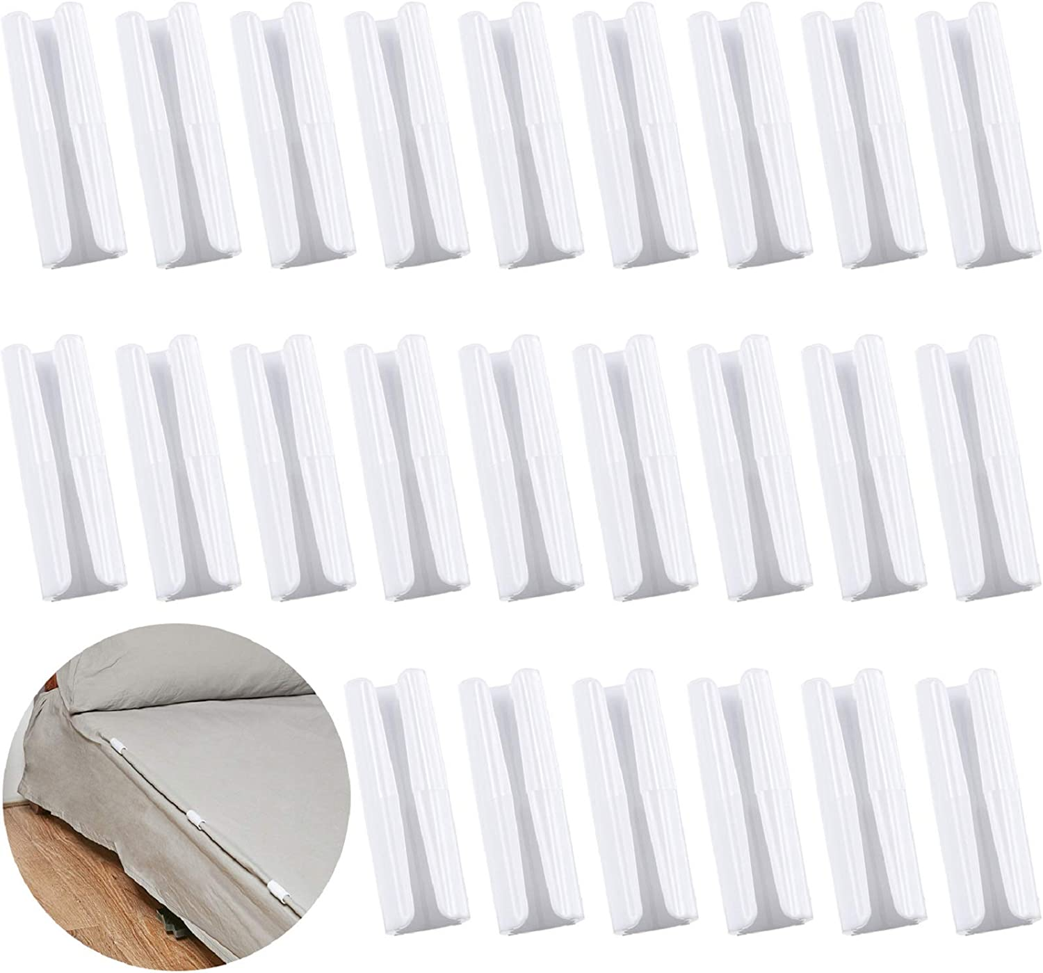 24 Pieces Bed Max 84% OFF Sheet Max 69% OFF Mattress Fasteners Fastene Grippers