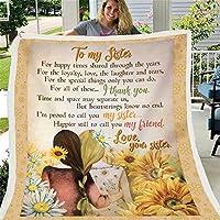 姉のためのシェーラフリースの毛布の手紙、プリントされた暖かいファジィぬいぐるみ毛布ファジーソフトマイクロファイバー、ギフトソファ旅行に適しています。,Flannel,110x150cm