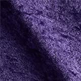 """Solid Purple Panne Fabric Crushed Velvet 2 Way Stretch Soft Polyester 58"""" Width x 1 Yard"""