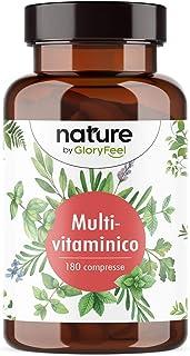 Integratore Multivitaminico & Multiminerale Naturale, 180 Compresse, Integratore Multivitamine per Uomini e Donne, Vitamin...