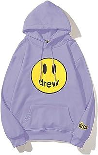 ramsons Drew House Men's Hoodie Happy Smiley Sweatshirt for Unisex Couple Street Trend Fashion Hoodie Sweatshirt