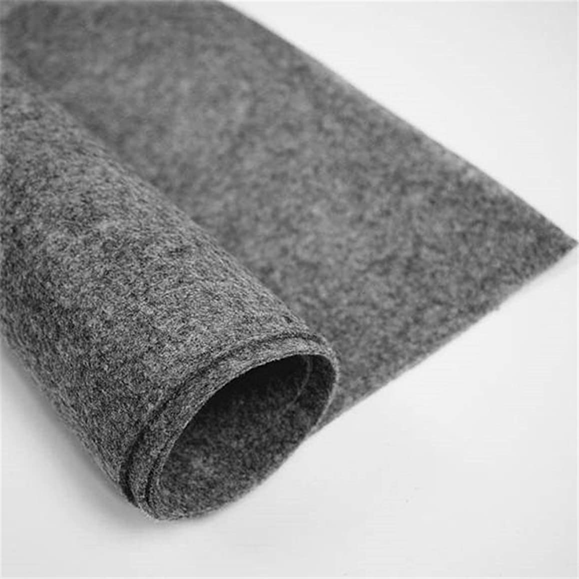 Felt Fabric 3 mm Thick, Dark Grey Craft Felt Cloth Non-Woven Wool Felt Fabric Sold by The Yard (3 mm Thick, Dark Grey)