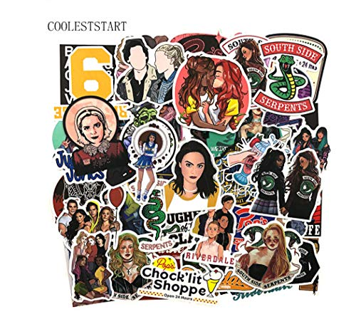 votgl 50 stuks/set Riverdale American tv-stickers voor koelkast, motorfiets, telefoon, scooter, laptop, bagage, fiets, anime sticker