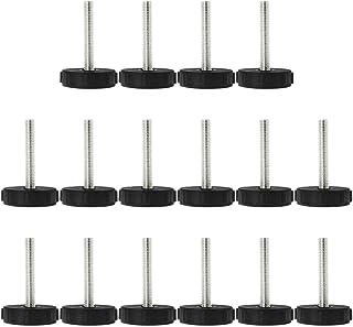 sourcing map Tapas Tapas niveladoras protectoras deslizante protectoras del suela para patas pies de muebles mesas sillas escritorios armarios bancos de M6 x 20 x 25mm 10 pcs M6x20x25mm