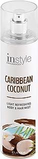 Instyle Fragrances | Body & Hair Mist | Caribbean Coconut Scent | With Panthenol | CLEAN, Vegan, Paraben Free, Phthalate Free | Premium 8 Fl Oz Spray Bottle