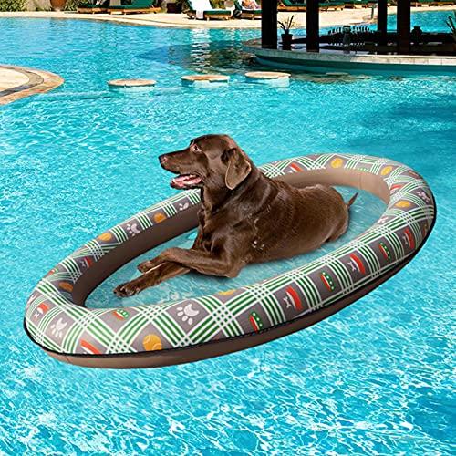 A/A Aufblasbare Wasserhängematte Für Hunde, 4 In 1 Luftkissen-Schwimmbad-Schwimmbett Mit Netz, Aufblasbarer Hängematten-Liegestuhl Swimmingpool-Liegestuhl, Luftmatratze-Schwimmmatratze