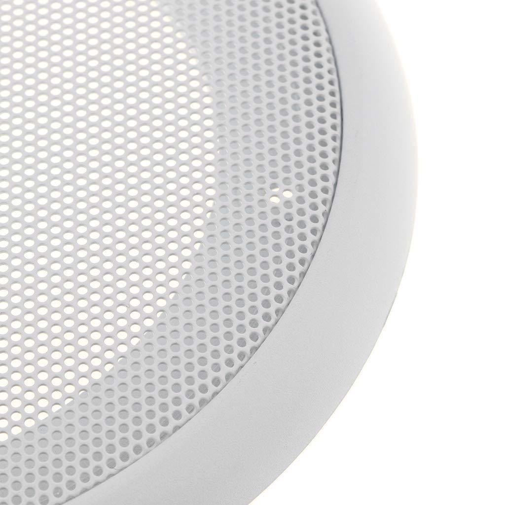 SM SunniMix 4 Pieces Wearable Car Decorative Trim Speaker Grille Mesh Cover Circle Round Guard Loudspeaker Protective Net Cover DIY Speaker Accessory Part
