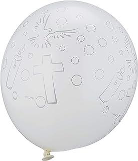 Folat-Ballons Communion Blancs-8 pièces, 63474