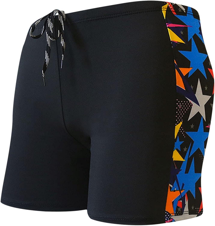 Huangse Men's Summer Cycling Print Shorts Workout Running Sportswear Lightweight Training Yoga Gym Bottoms for Men