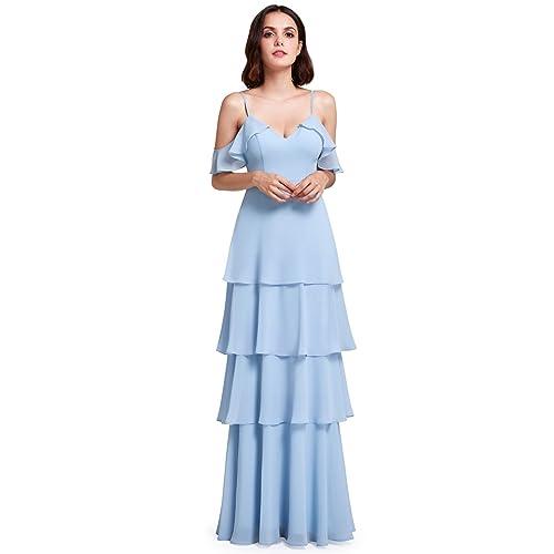 ecdc78cbd6c6 Ever Pretty Women's Elegant Floor Length A Line Chiffon Long Bridesmaids  Dress 07201