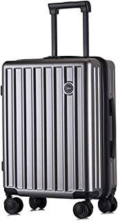 """Stylish and durable Wheels Travel Rolling Boarding,20""""24""""Inch 100% Aluminium Spinner Aluminium Convenient Trolley Case,Super Storage Luggage Bag, high quality (Color : Gold, Size : 20inch)"""