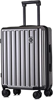 """SRY-Luggage PC+ABS Convenient Trolley Case,Super Storage Luggage Bag,Wheels Travel Rolling Boarding,20"""" 24"""" Inch Durable Carry on Luggage (Color : Gold, Size : 24inch)"""