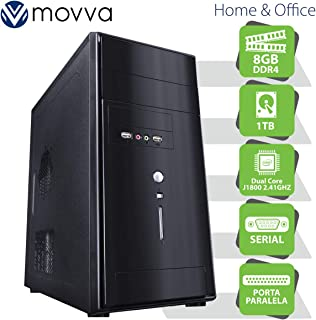 COMPUTADOR LITE INTEL DUAL CORE J1800 2.41GHZ MEM. 8GB HD 1TB 1X PORTA PARALELA 1X PORTA SERIAL FONTE 200W - LINUX - MOVVA