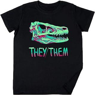 Velociraptor Cráneo Niños Chicos Chicas Unisexo Camiseta Negro