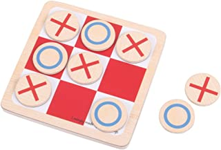 Bigjigs Toys Wooden Noughts and Crosses Game, Multicolored