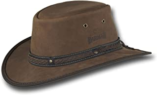 Barmah Hats Foldaway Gaucho Leather Hat - Item 2060