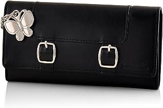 Butterflies Women's Wallet (Black) (BNS 2388BK)