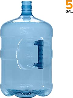 5 Gallon BPA FREE PET Plastic Crown Cap Water Bottle Container Jug Made in USA