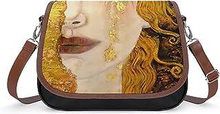 Gustav Klimt Damen Vintage Taschen Handtasche Retro Schultertasche Unterarmtasche