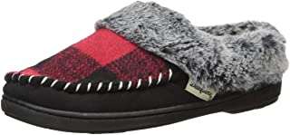 Women's Plaid and Microsuede Moc Toe Clog Slipper