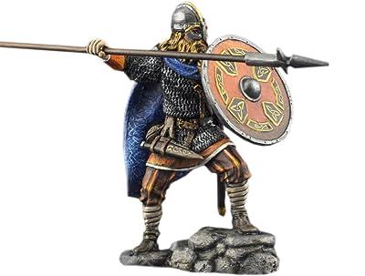Tin Toy Soldier Assembled Unpainted Warrior viking #36 54mm 1//32 miniature
