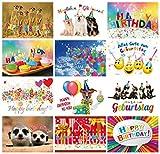 Tarjetas de cumpleaños (Set 2): 24–Juego de tarjetas postales con corazón & Humor–12diseños, cada uno con 2tarjetas de felicitación de Edition Colibri (10849de 860)