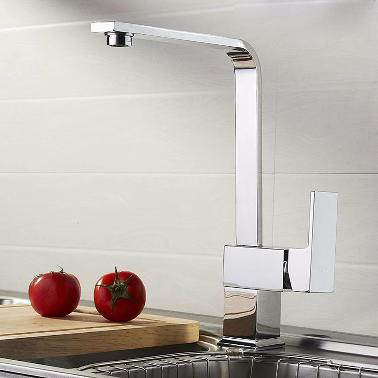 Commercial Single Lever Pull Down Kitchen Sink Faucet Brass Constructed Polished Kitchen Faucet Hot and Cold Sink Faucet Sink Faucet Full Copper Body redatable Faucet