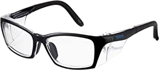 Safety Glasses Reduce Eye Strain & Fatigue, UV Protection, Anti Fog Coating Clear Blue Light Blocking Lens (OP40-Black)