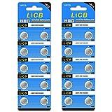 LiCB 20個 LR41 ボタン電池 1.5V アルカリ電池【LR41、192、AG3、384、392 、LR736互換】