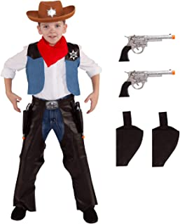 Kids Cowboy Costume Childs Wild West Sheriff Outfit Western Rodeo for Boys and Girls
