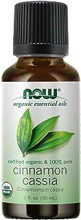 NOW Essential Oils, Organic Cinnamon Cassia Oil, Warming Aromatherapy Scent, Steam Distilled, 100% Pure, Vegan, Child Resi...