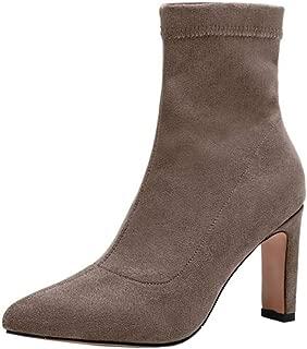 RizaBina Women Fashion Stretch High Heel Booties Pull On