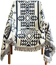 besbomig Woven Sofa Cover Throw Blanket - Tribal Pattern Bedspread Settee Blanket