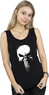 Marvel Mujer Punisher Spray Skull Camiseta Sin Mangas
