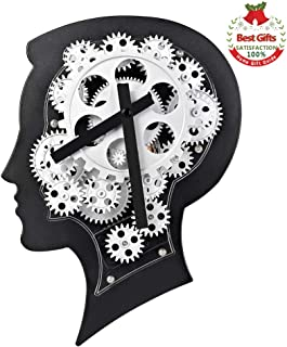 SevenUp Large Decorative Wall Clock Silent Non Ticking,12.2