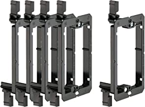 iMBAPrice Low Voltage 1 Gang Mounting Bracket for Banana Wall Plate (5 Pack)