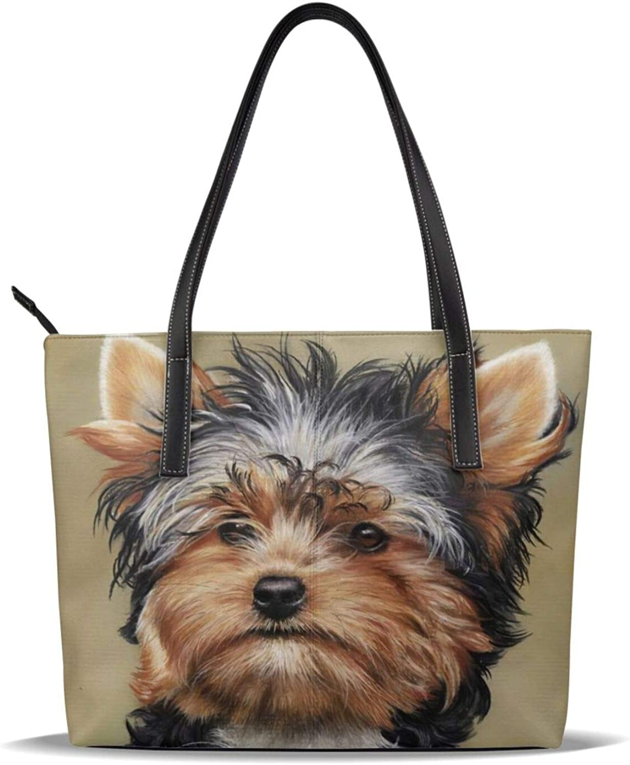 Yorkshire Terrier Teacup Dog Cute Pu Printed Leather El Our shop most popular Paso Mall Patter Baby