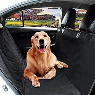 100% Waterproof Car Seat Covers for Dogs, Dog Car Seat Covers with Side Flaps, Pet Seat Cover for Cars Back Seat – Black, Hammock Convertible