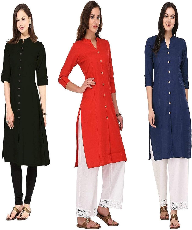 Indian Handicrfats Export Combo Dark bluee Cotton Woman's Kurti