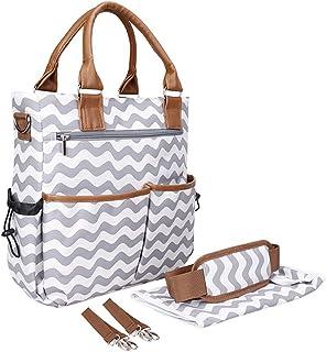 Fanspack Diaper Handbag Multifunctional Top Handle Baby Nappy Shoulder Bag for Mom