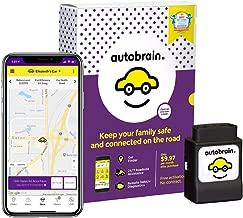 Autobrain OBD Real-Time GPS Personal Vehicle Tracker | Auto Health Diagnostics | Parking Locator & Car Finder Tracker | Teen & Senior Driver Monitoring | 24/7 Emergency Roadside Assistance