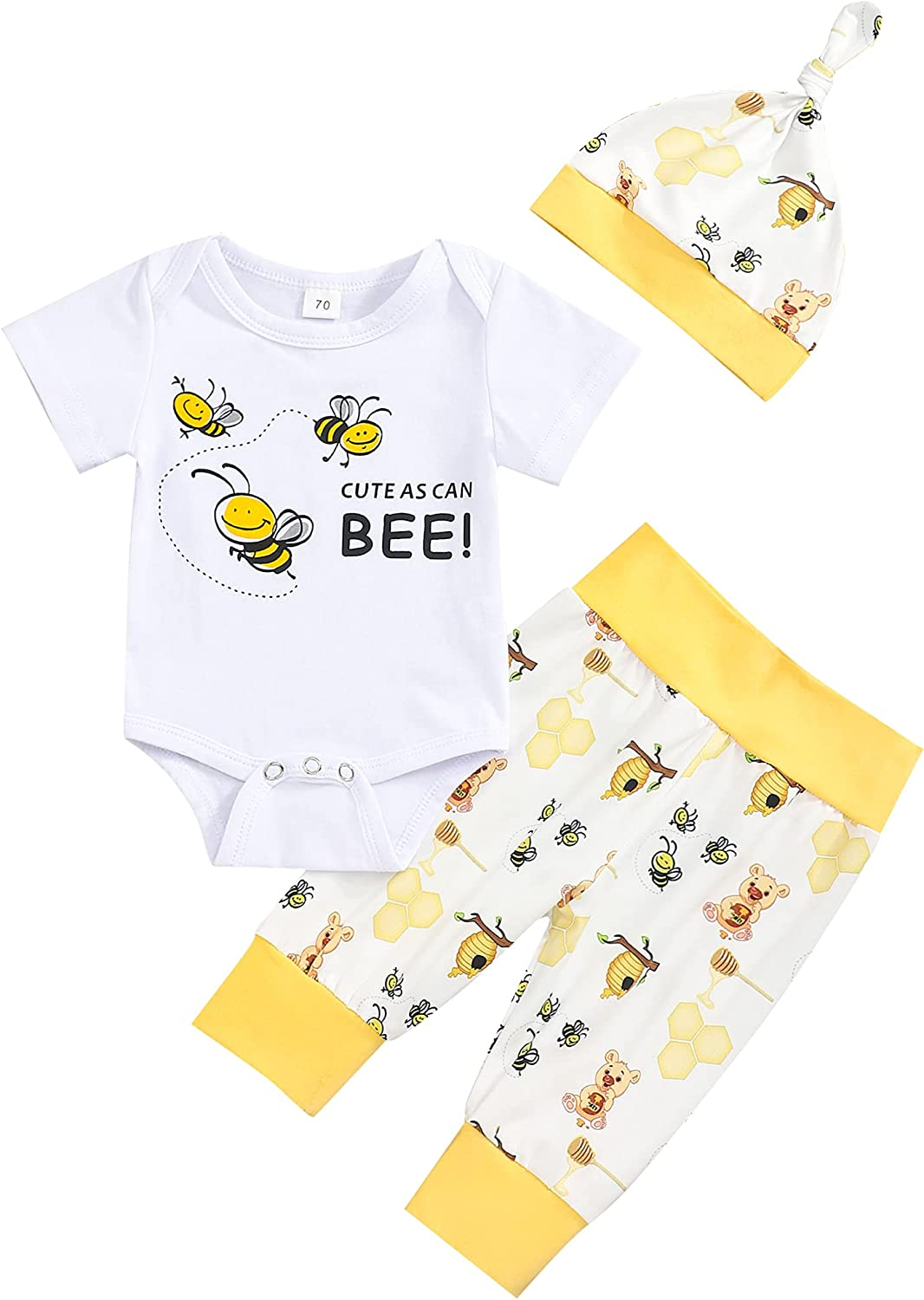 Infant Newborn Baby Boy Clothes Hello World and Tiger Print Romper Tops+Pants Baby Boy Clothes Outfit Sets