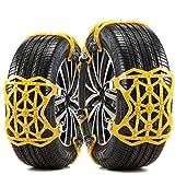 GUARD & REVIVAL TREAT Cadenas de Nieve Coche Universales Cadenas de Neumáticos 6 Piezas, Espesar Material de TPU, Apto para la...