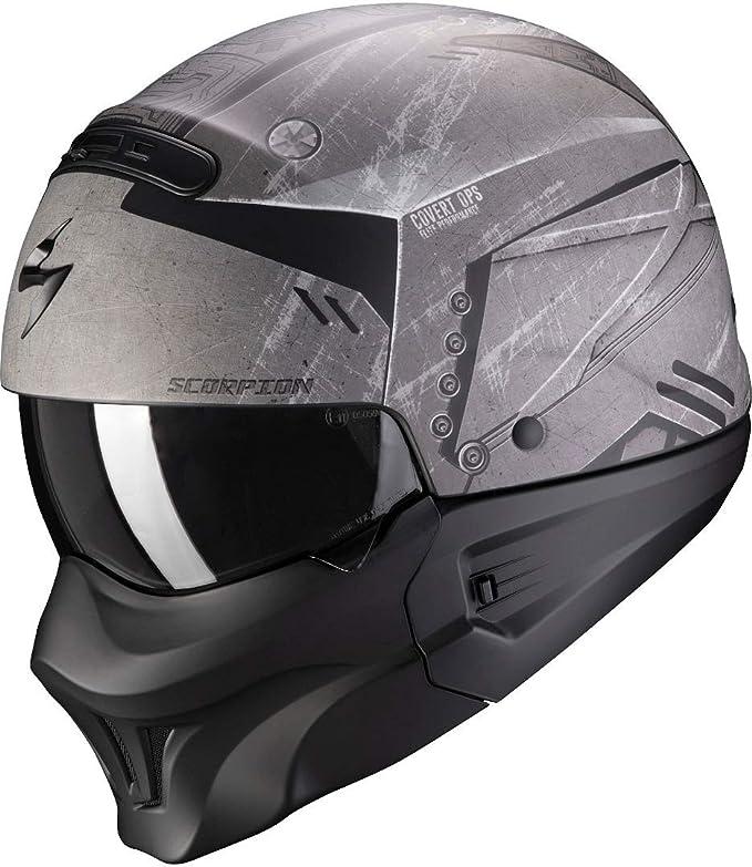 Scorpion Herren Nc Motorrad Helm Schwarz Grau L Auto