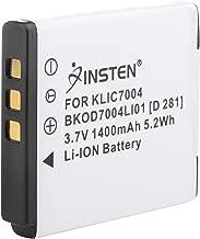 High Capacity KLIC-7004 Digital Camera Replacement Lithium-Ion Battery Compatible with Kodak KLIC-7004; Fuji NP-50, FinePix F300EXR, FinePix F505EXR; Pentax D-LI68