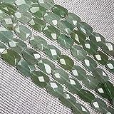 JSJJAUJ Colgantes Piedra Natural Forma Cuadrada Facetada Cuentas de Cristal Semifinizó Perlas Sueltas Bricolaje Accesorios de Pulsera Collars (Color : 11, Item Diameter : 12x16.5x6mm)