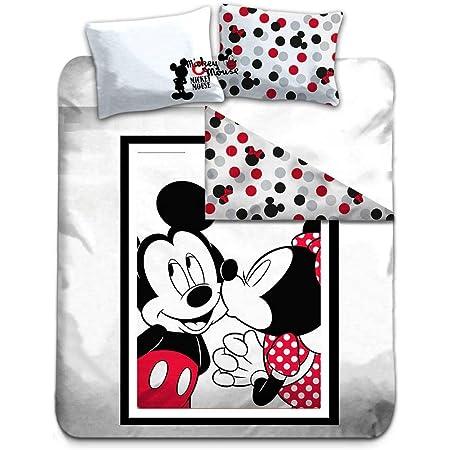 Gamesland Disney - Parure de lit 240X220 - Mickey & Minnie '100% Cotton'