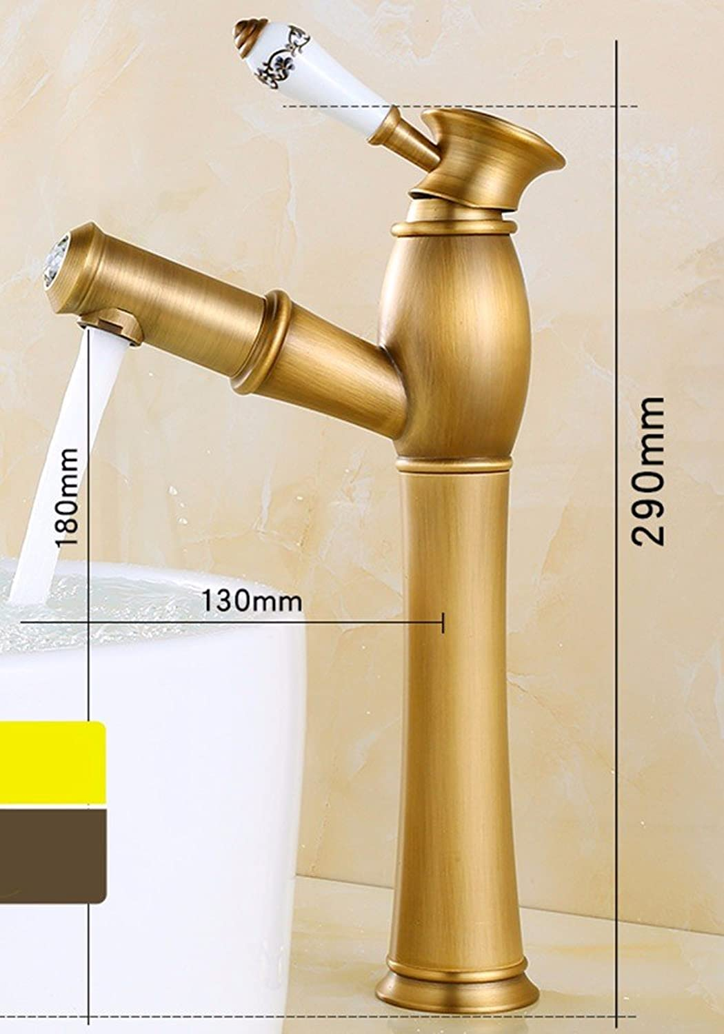 LSRHT Basin Taps Taps Taps Mixer Kitchen Sink Faucet retro style pulled hot and cold Faucets Bathroom accessories c833c1